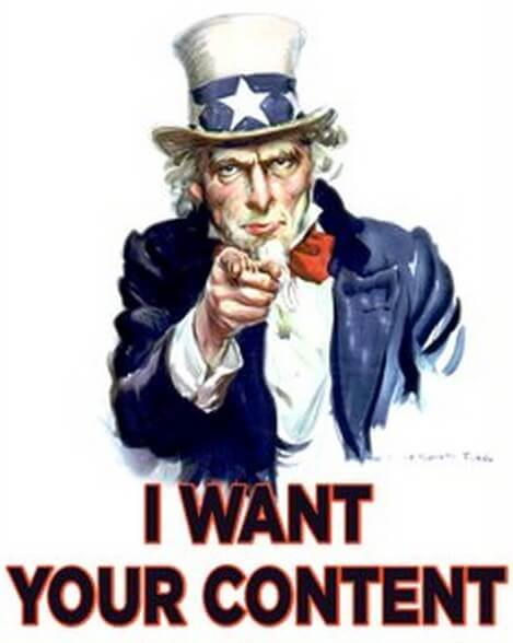 Uncle Sam I want your Content