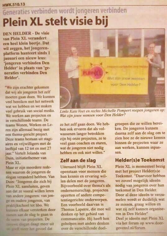 Column Square XL in Helders Weekblad 23 January