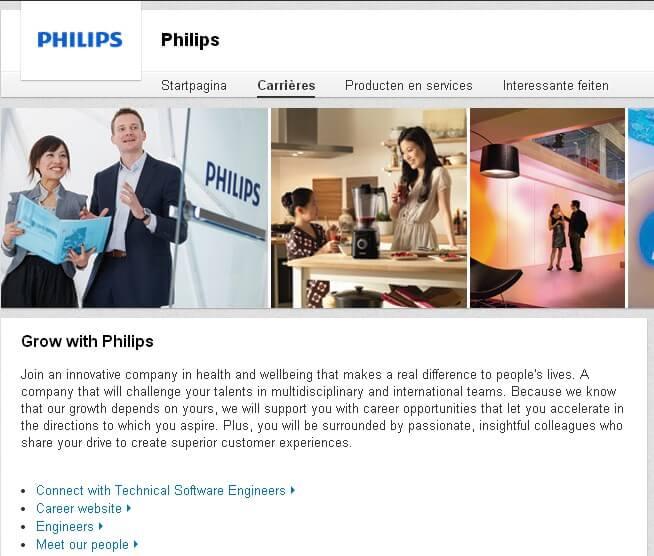 Philips presents itself as