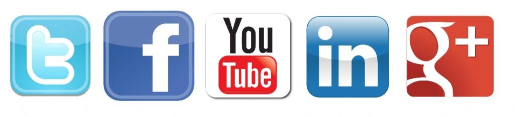 Facebook Youtube Twitter Google + Linkedin Logos