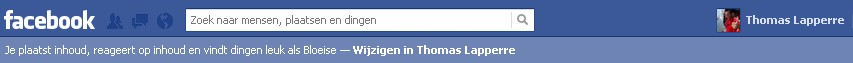 Facebook bar switch profile