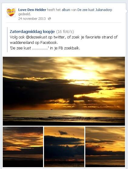 More organic reach by Facebook post with more than 1 photo