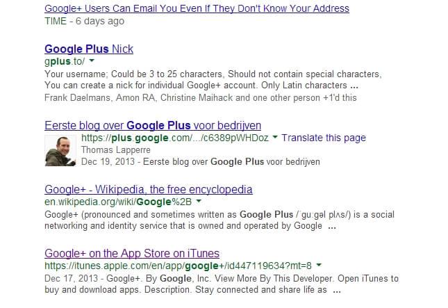 Screenshot 2 search Google plus (1)
