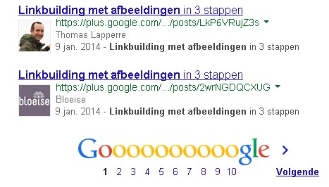 Google posts op Google Search