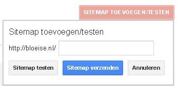 Sitemap toevoegen testen