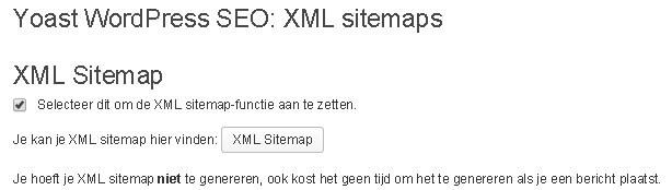 Yoast WordPress SEO XML sitemap maken