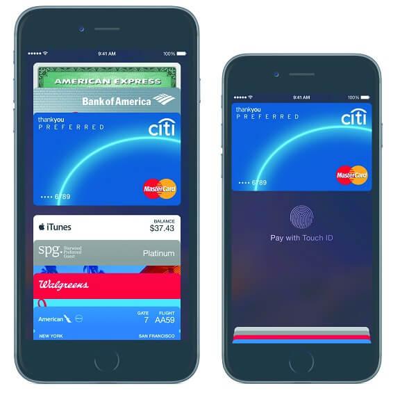Apple Pay screenshots 2015