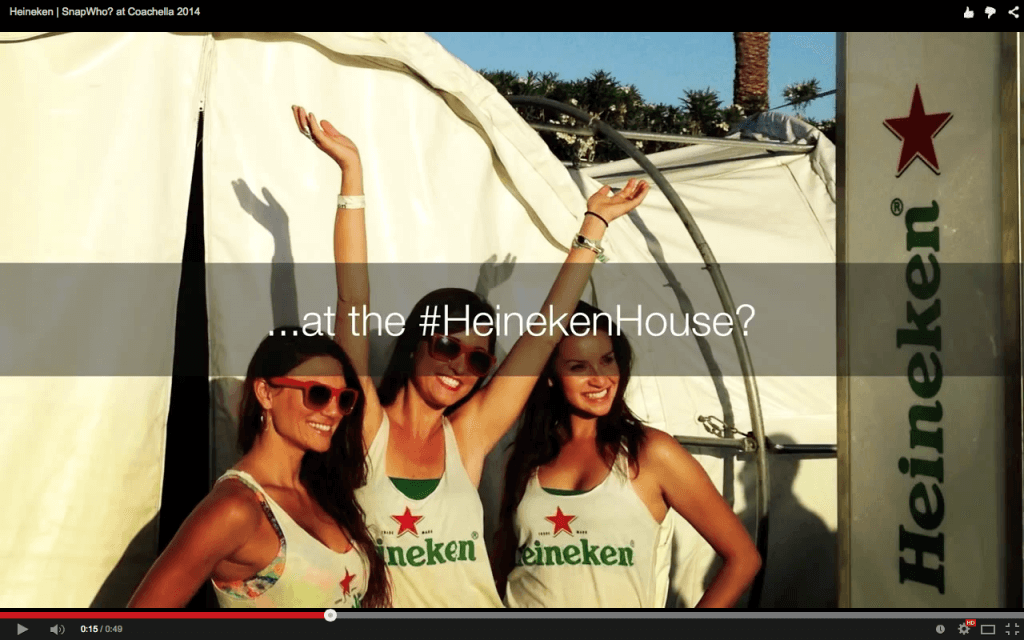 Heineken House video Snapchat