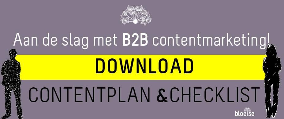 Banner download B2B contentplan en checklist voor B2B contentmarketing