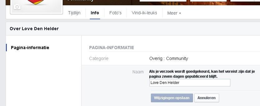 Facebookpagina titel veranderen