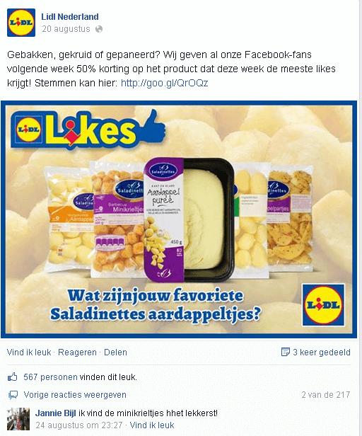Facebook Lidl Saladinettes