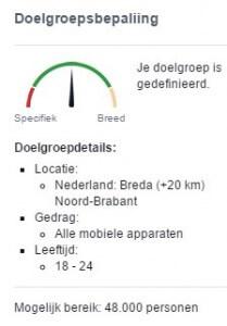 Target group determination Facebook advertising for driving school holder in Breda
