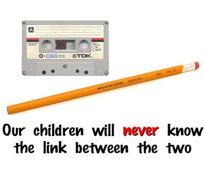 Facebook Age Test pencil and tape