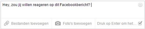 Facebook Messenger message