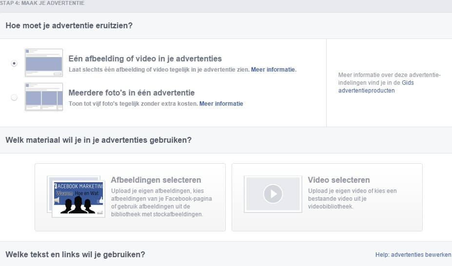Facebook advertising how should your ad look like
