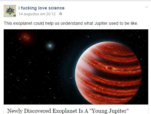 IFLscience example Facebook post