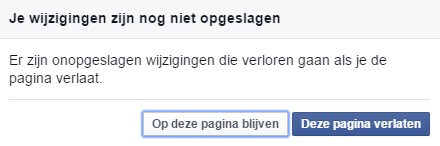 Your changes haven't been saved yet Facebook Advertise