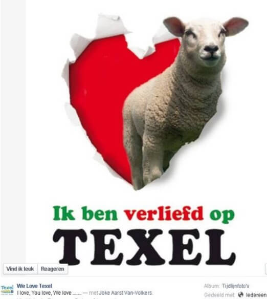 In love with Texel through the Facebook page We Love Texel of VVV Texel