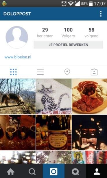 Profiel Instagram - hoe het niet moet