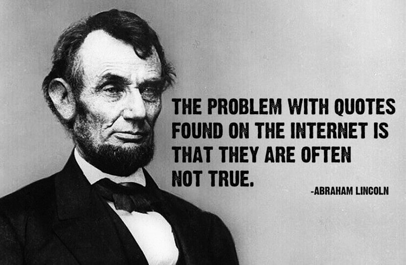 Internet quote by Abraham Lincoln