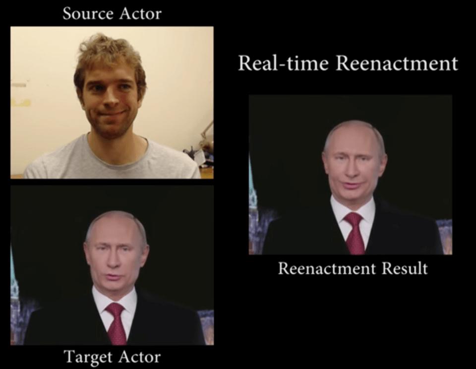 Screenshot Face2Face with Putin