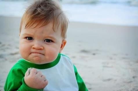 Website beter vindbaar door linkbuilding - baby fistpumps epic win meme