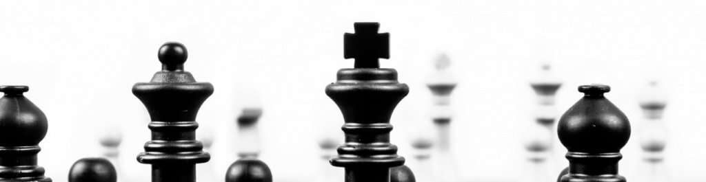 Determining content strategy - chess board with black and white pieces