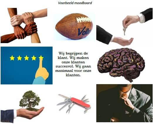 Employer branding voorbeeld moodboard