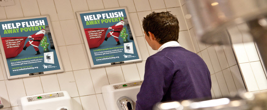 toilet advertising panels a3 posters