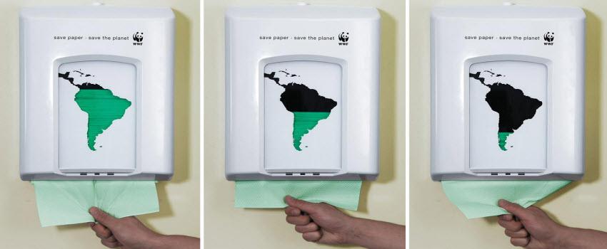 toilet advertising paper towel