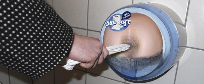 toilet advertising toilet paper