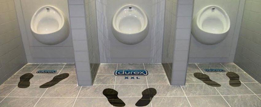 toilet advertising floor