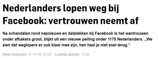 AD.nl Facebookgebruik neemt af 2018