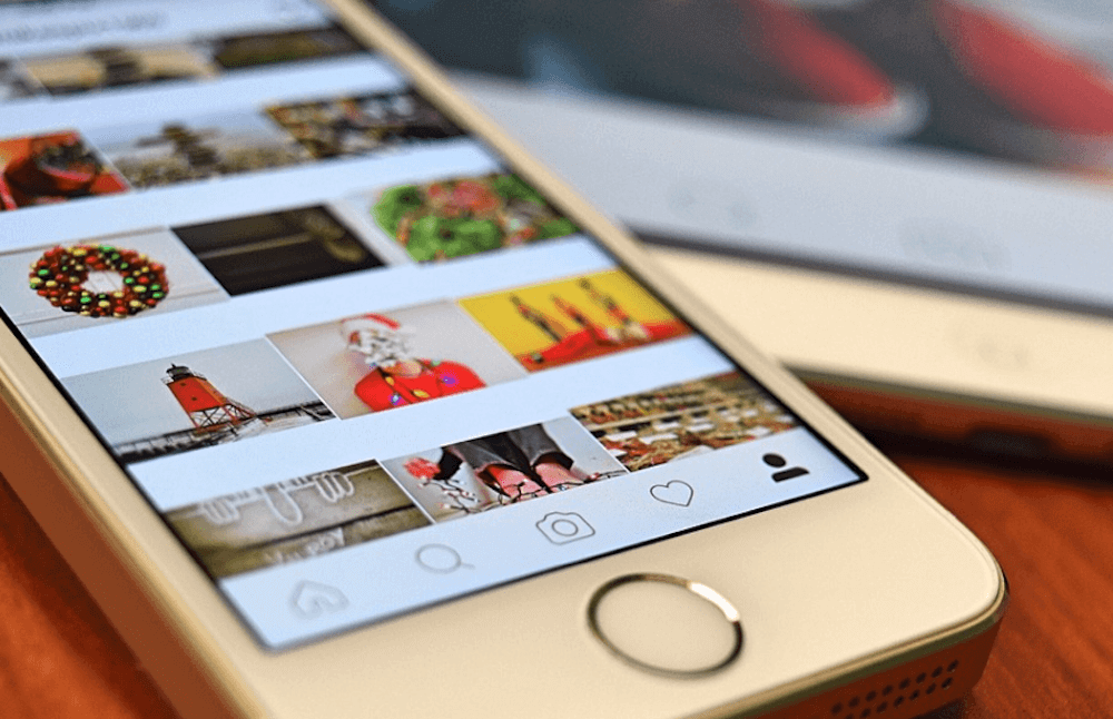 Instagram op een mobiele telefoon