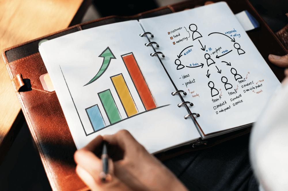 OGSM Business plan: getekende grafieken