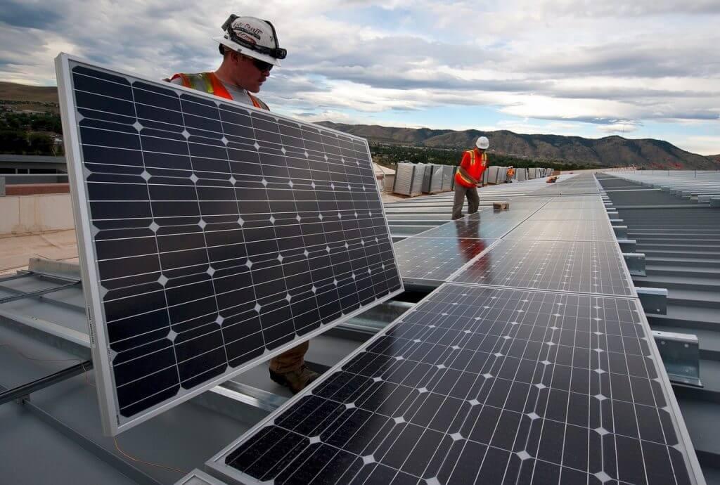 Business solar panels - placement