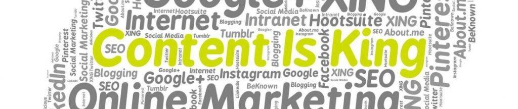 Waarom contentmarketing - content is king