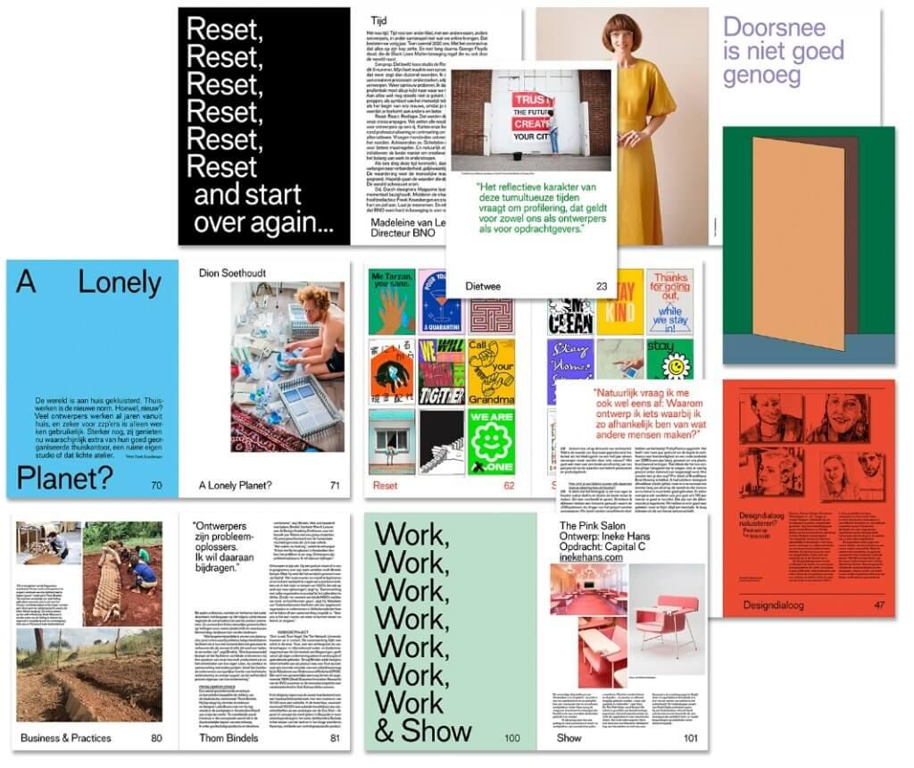 D magazine collage spread