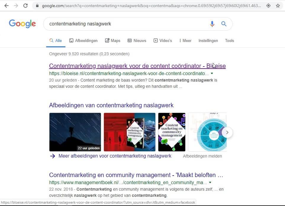 Google indexeert via Facebook