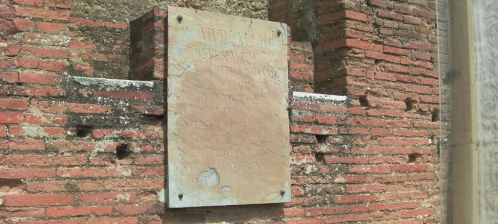 Outdoor advertising in Roman times