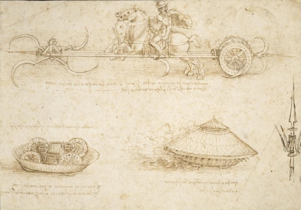 Da_Vinci_Scythed_Chariot_and_Armoured_Tank