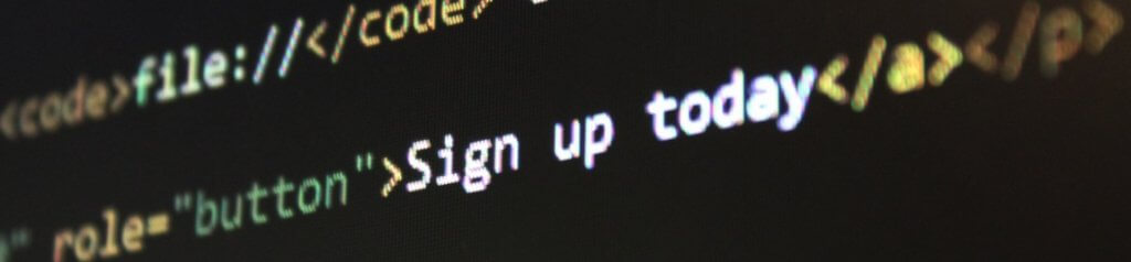 Sign up today - HTML