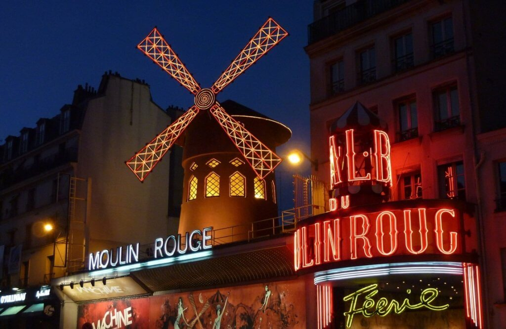 Moulin rouge - French example of outdoor advertising