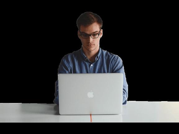 B2B manager laptop