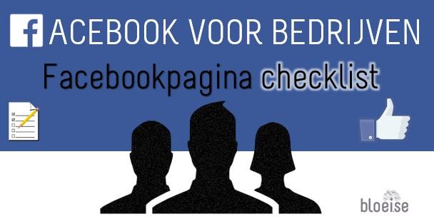 Facebook marketing banner for Facebook page checklist