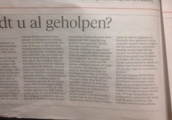 Guest column NHD about VenD Are you already being helped by Thomas Lapperre van Bloeise