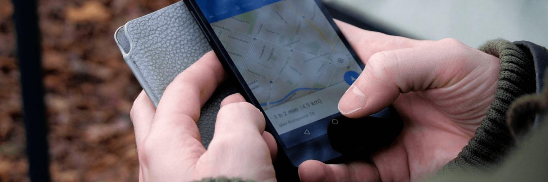 Google Maps op een smartphone