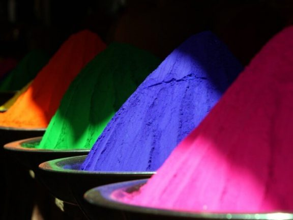 Bergen kleur pigment