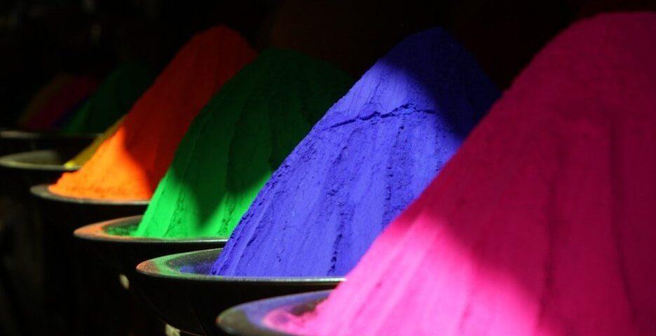 Mountains color pigment