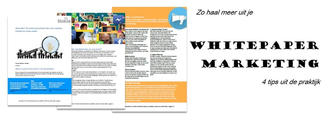 Whitepaper marketing: Hoe haal je meer effect uit je whitepaper?4 praktijktips